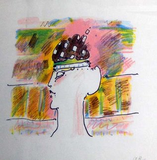 Monk with Hat (early) 1979 Limited Edition Print - Peter Max