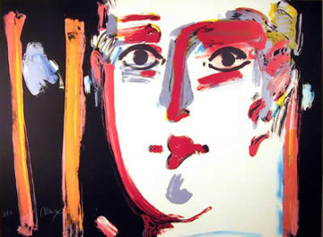 Visage III 1981 Study 21x29 Works on Paper (not prints) - Peter Max