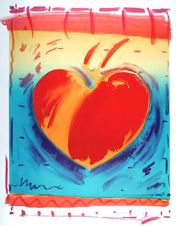 Heart II 1981 Limited Edition Print - Peter Max