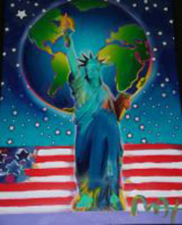 Peace on Earth 24x18 Works on Paper (not prints) - Peter Max