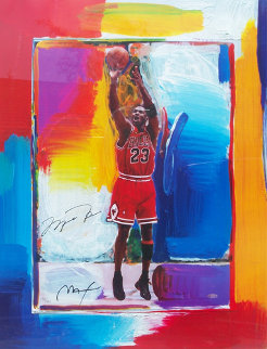 Last Shot Michael Jordan 1999 Works on Paper (not prints) - Peter Max