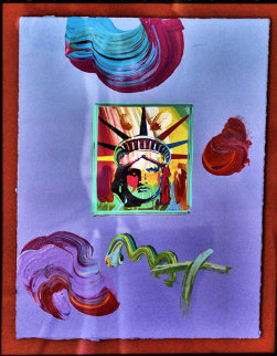 Statue of Liberty 1981 Original Painting - Peter Max