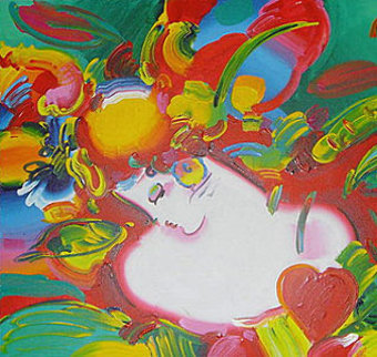 Flower Blossom Lady Limited Edition Print - Peter Max