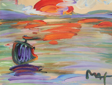 American 500: Sunset Unique 31x37 Works on Paper (not prints) - Peter Max