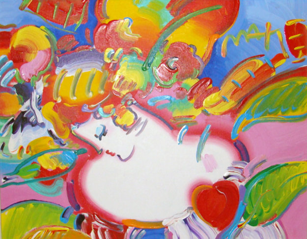 Flower blossom lady version 4 2002 25x29 by peter max for Best way to sell your art online