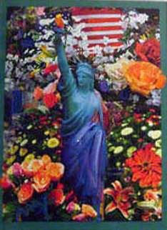 Land of the Free Home of the Brave II 2005 24x18 Works on Paper (not prints) - Peter Max