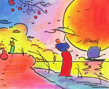 Two Sages in The Sun 2003 Limited Edition Print - Peter Max