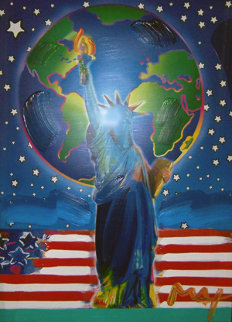 Peace on Earth Unique 2001 36x24 Works on Paper (not prints) - Peter Max