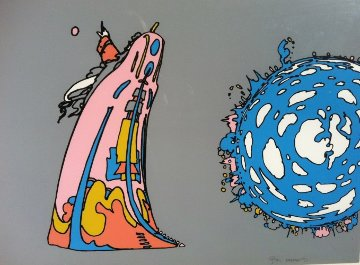 Pointing to Infinity 1971 Limited Edition Print - Peter Max