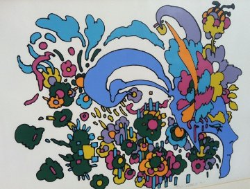 Leaving It Behind (early work, 1971, small edition) Limited Edition Print - Peter Max