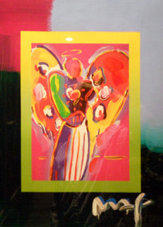 Angel with Heart Unique 2008 29x25 Works on Paper (not prints) - Peter Max