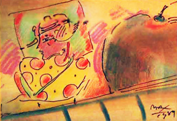 Untitled Mixed Media 1989 Works on Paper (not prints) - Peter Max
