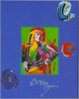 Mick Jagger Unique Works on Paper (not prints) - Peter Max