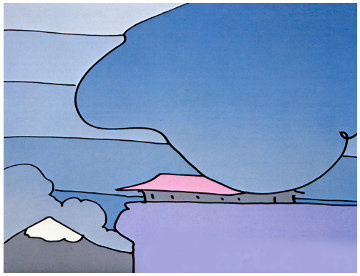 Early Morning I (early work 1978)  Limited Edition Print - Peter Max