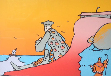 New World Landscape  (early) 1980 Limited Edition Print - Peter Max