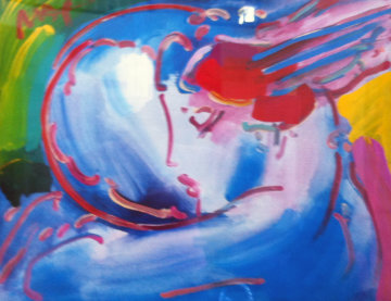 Peace By the Year 2000 (2001) Unique 37x43 Works on Paper (not prints) - Peter Max