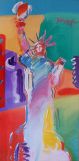 Statue of Liberty Unique 53x54 Works on Paper (not prints) - Peter Max