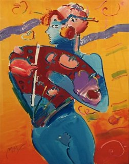 Nude Fan Dancer  Limited Edition Print - Peter Max