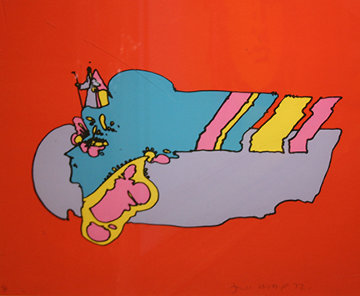 Witness From Above 1972 (Early) Limited Edition Print - Peter Max