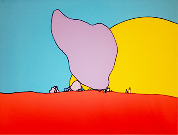 Rocks And Sun 1971 (Early) Limited Edition Print - Peter Max