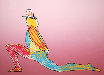 Performer With Hat 1979 (Early) Limited Edition Print - Peter Max