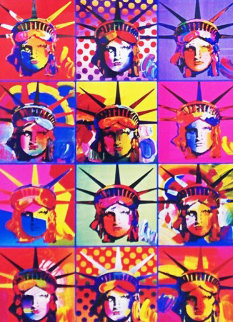 Liberty And Justice For All 2001 Unique 24x18 Works on Paper (not prints) - Peter Max