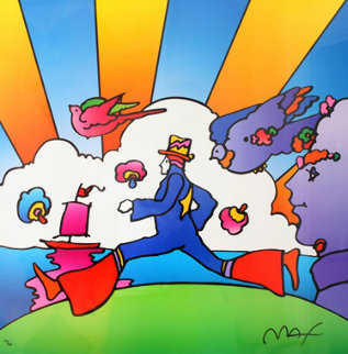 Cosmic Runner  2000 Limited Edition Print - Peter Max