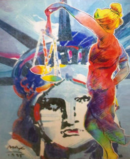 With Liberty And Justice For All Touro Law Center 1995 Limited Edition Print - Peter Max