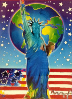 Peace on Earth II 2005 Unique 24x18 Works on Paper (not prints) - Peter Max