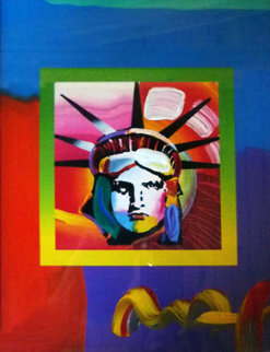 Liberty Head II on Blends 2006 23x21 Works on Paper (not prints) - Peter Max