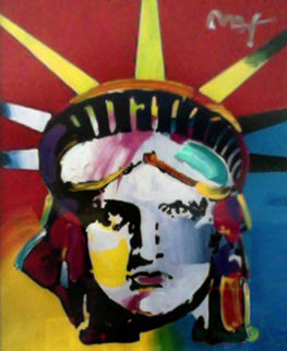 Delta Unique 29x24 (Statue of Liberty) Works on Paper (not prints) - Peter Max