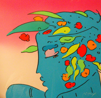 Blue Lady Planet 1989 Limited Edition Print - Peter Max