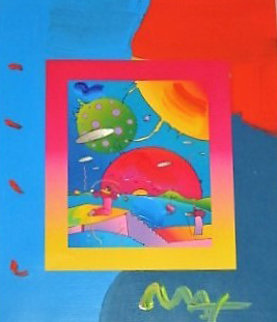 Year of 2250 on Blends 2006 Unique 27x23 Works on Paper (not prints) - Peter Max