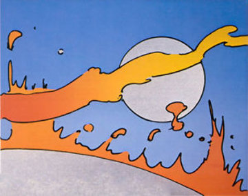 Close to the Sun  Limited Edition Print by Peter Max