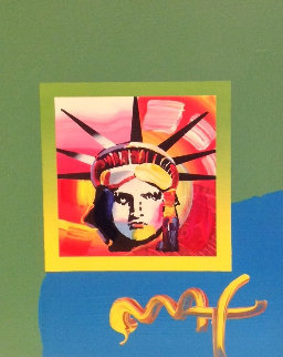 Liberty Head II 2000 10x8 Works on Paper (not prints) - Peter Max