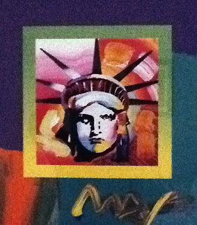 Liberty Head 2008  38x33 Works on Paper (not prints) by Peter Max