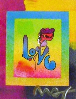 Love on Blends 2006 22x24 Works on Paper (not prints) - Peter Max