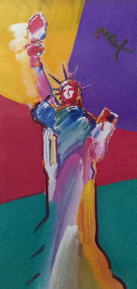 Statue of Liberty 2001 33x53  Works on Paper (not prints) - Peter Max