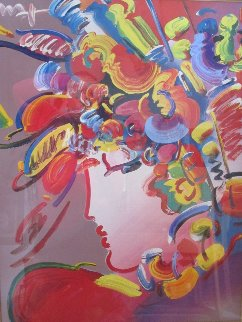 Blushing Beauty Unique 36x41 Works on Paper (not prints) - Peter Max