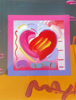 Heart on Blends Unique 2006  17x15 Works on Paper (not prints) - Peter Max