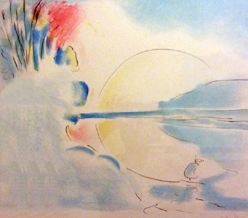 Red Sun 1978 Limited Edition Print - Peter Max