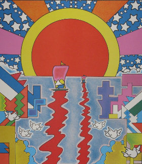 Sailing New Worlds Limited Edition Print - Peter Max