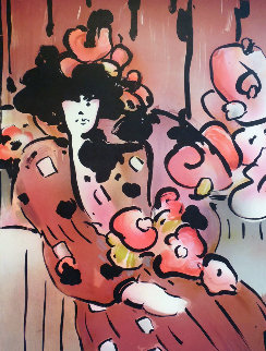 Brown Lady With Vase 1981 Limited Edition Print - Peter Max