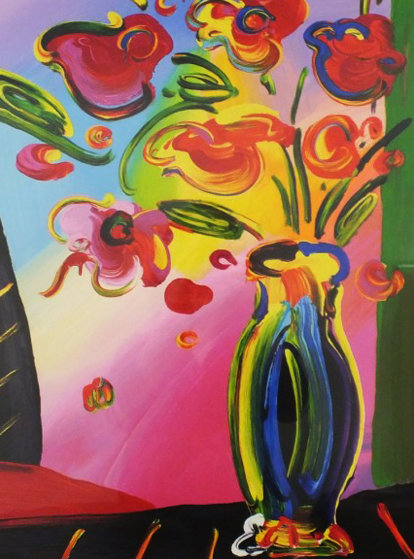 Vase Of Flowers 2014 By Peter Max