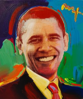 President Obama 2009 16x14 Original Painting - Peter Max