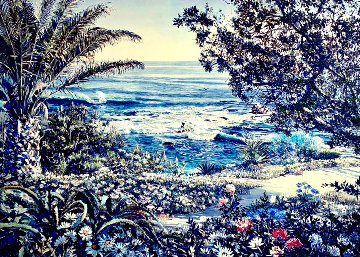 Untitled Seascape Embellished Limited Edition Print - Ruth Mayer