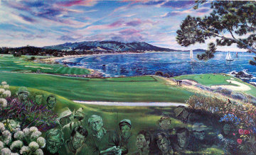 Legends of Golf Pebble Beach, California Limited Edition Print - Ruth Mayer