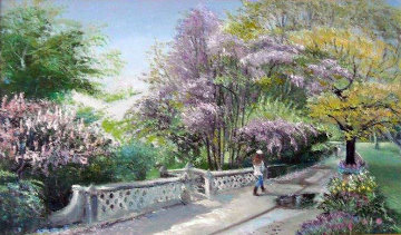 Central Park, New York 1998 19x27 Original Painting - Ruth Mayer