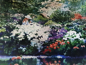 Artist\'s Garden 1980 Limited Edition Print - Ruth Mayer