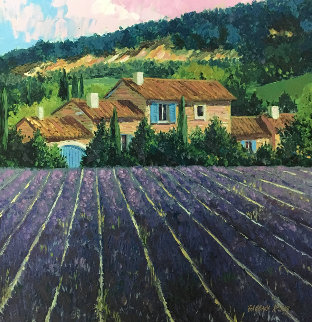Lavender Fields Embellished Limited Edition Print - Barbara McCann